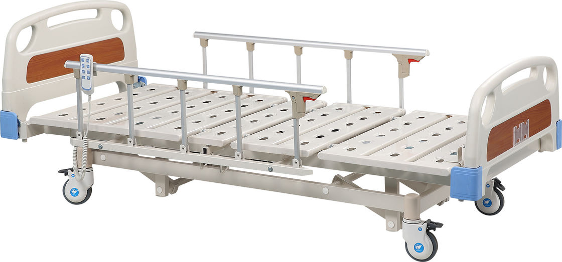 Durable And Portable Remote Hospital Bed Electric With Aluminum Alloy Protective Railing