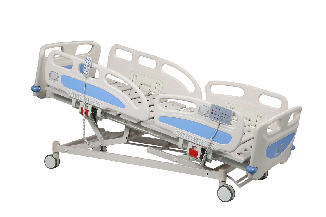 ABS Head And Foot Board Electric ICU Hospital Bed For First Aid Room