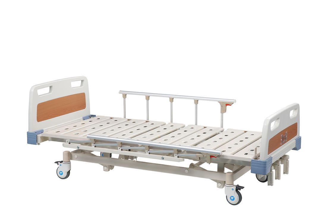 Folding Adjustable Medical Manual Hospital Bed Metal For Patient